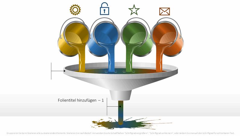 """Trichterdiagramm """"Farbdosen"""""""