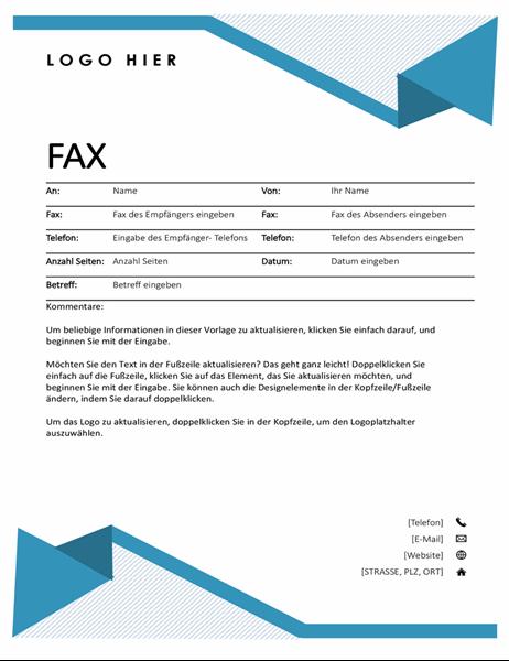 "Faxdeckblatt ""Nadelstreifen"""