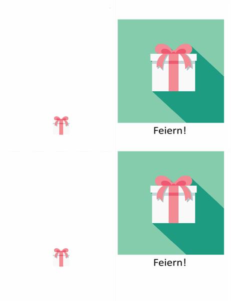 Glückwunschkarte mit Geschenkmotiv