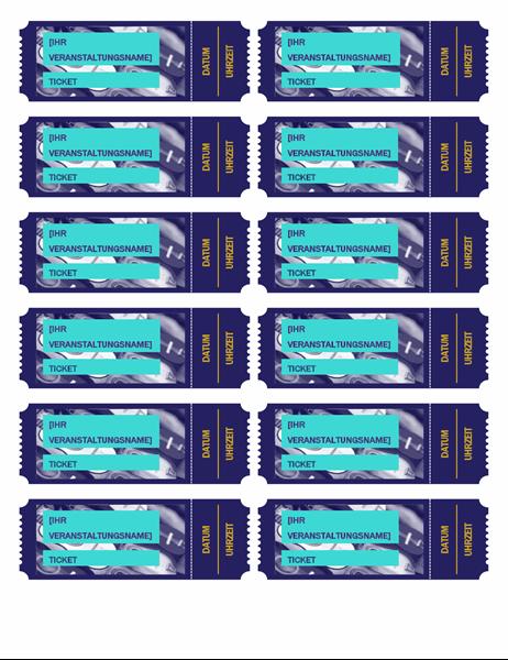 Blaue Veranstaltungstickets