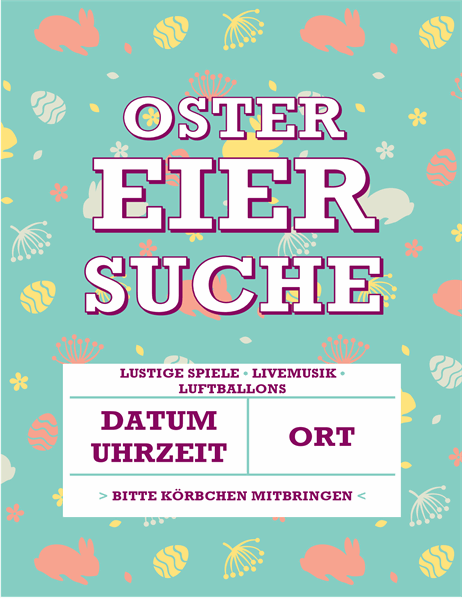 "Flyer ""Ostereiersuche"""