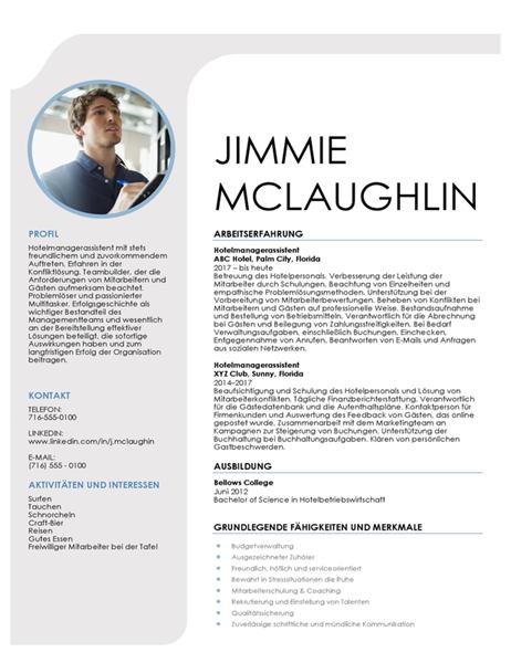 Hospitality-Management-Lebenslauf