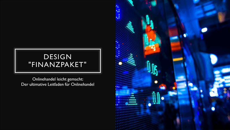 """Design """"Finanzpaket"""""""