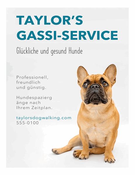 Handzettel für Gassigehen