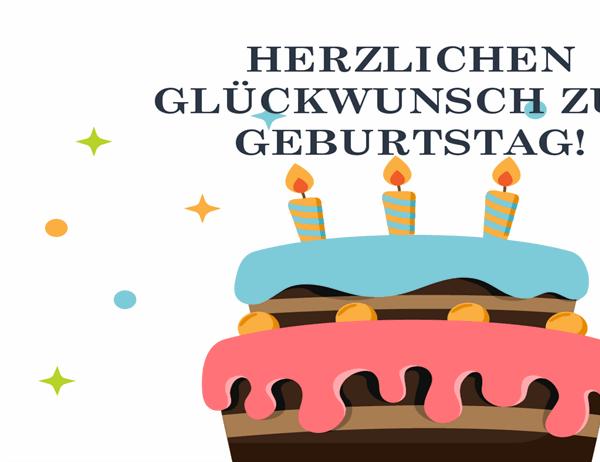 Geburtstagskarte mit großer Torte