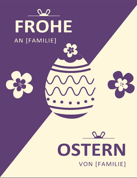 Violette Osterkarte