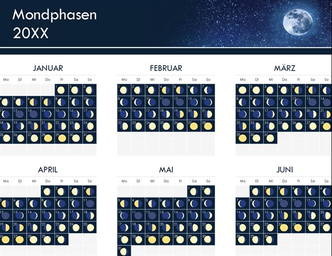 Phasen des Mondkalenders