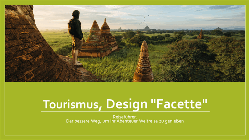 """Tourismus, Design """"Facette"""""""