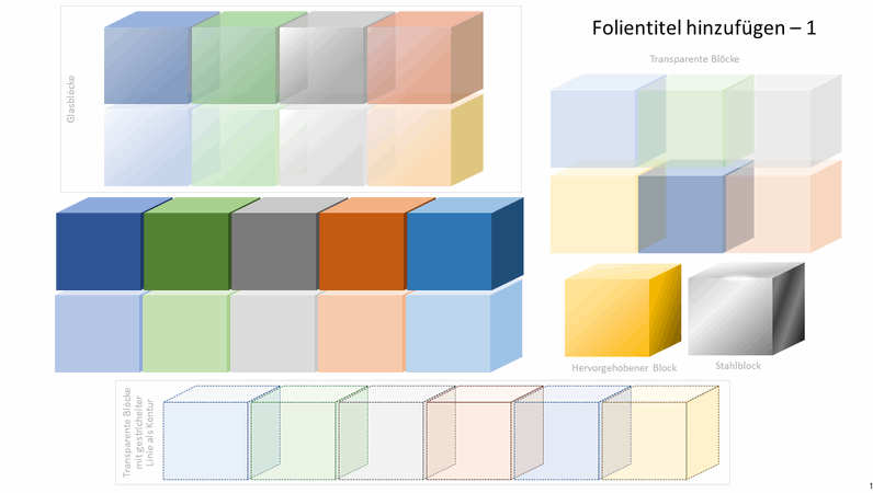 Farbige Blockgrafiken