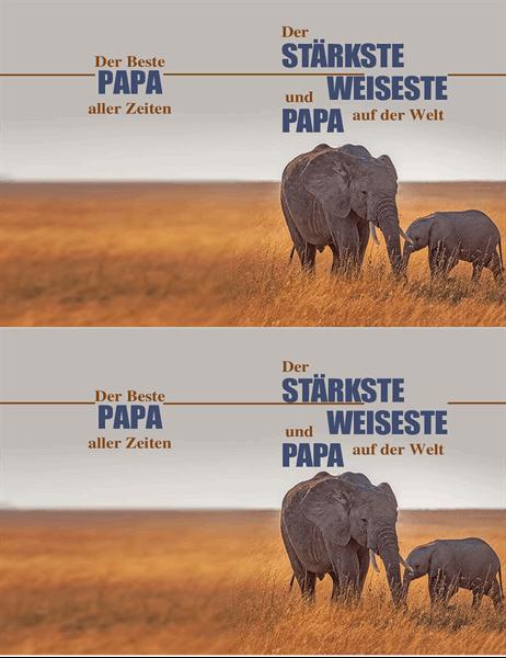 """Vatertagskarte """"schlauer Elefant"""""""