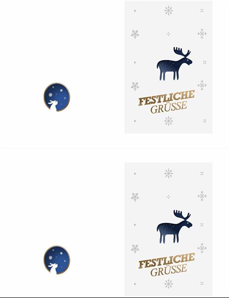 """Weihnachtskarte """"Elch"""""""