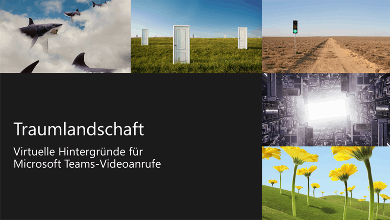 Virtuelle Teams-Hintergründe mit Traumlandschaften
