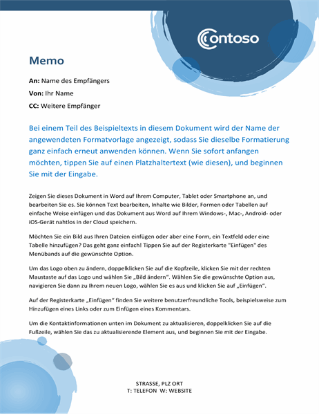 "Memo ""blaue Kreise"""