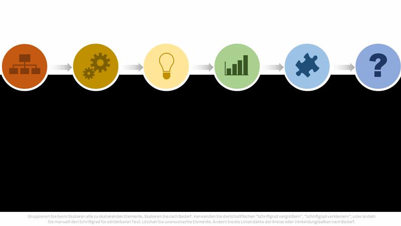 Mehrfarbiges Prozessablaufdiagramm