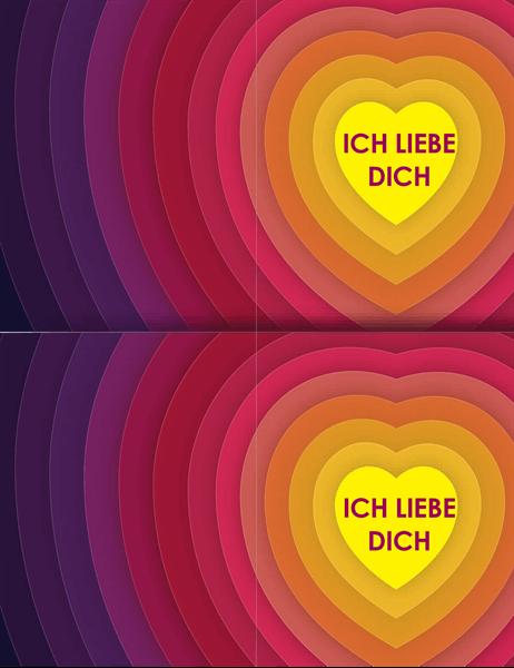 """Karte """"Herzen in Herzen"""""""