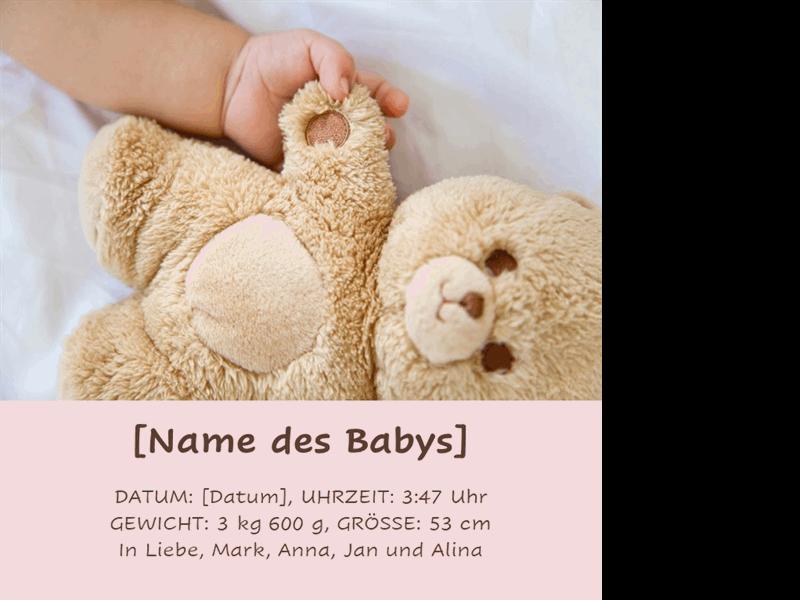 Klassisches Baby-Fotoalbum