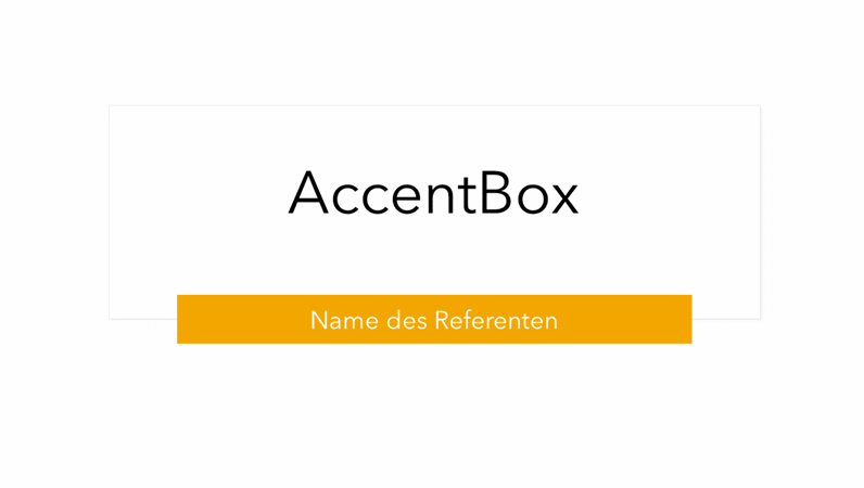 AccentBox-Präsentation