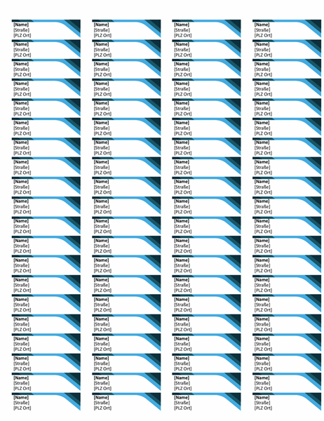 Blaue Etiketten (80 pro Seite)