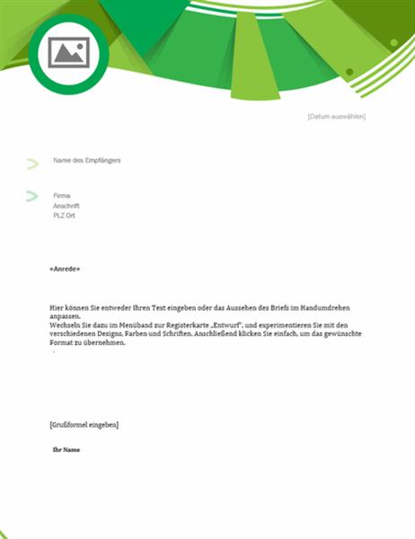 """Geschäftsbrief (Design """"Grüner Wald"""")"""