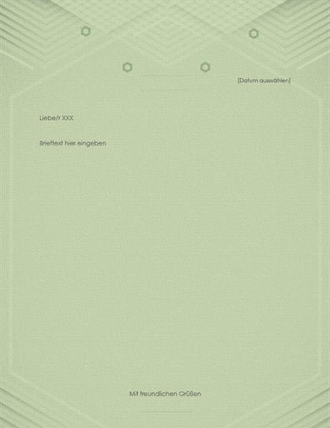 Vorlage für Privatbrief (elegantes graugrünes Design)