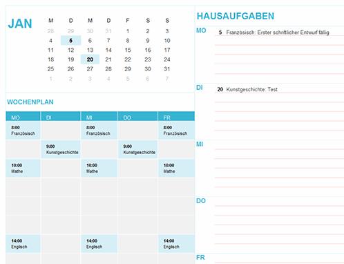 Schul- und Studiumskalender