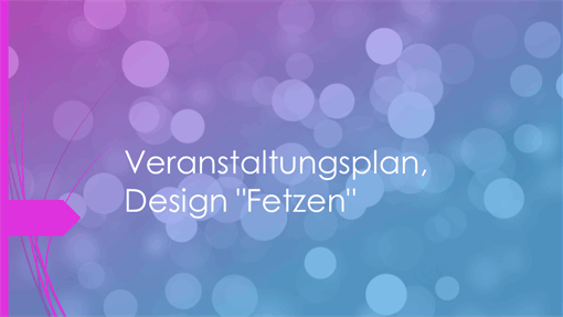 Veranstaltungsdesign