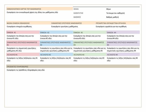 Σχέδιο μαθήματος