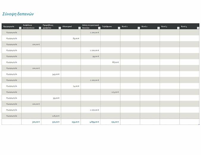 Ημερολόγιο δαπανών