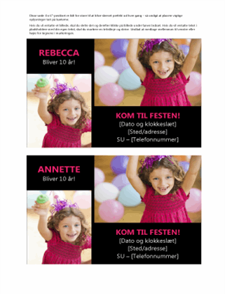 Ταχυδρομική κάρτα πρόσκλησης σε πάρτι γενεθλίων
