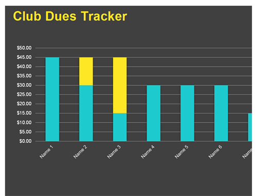Club dues tracker