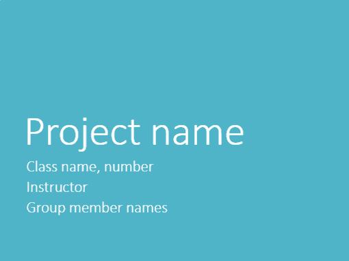 Group project presentation (Metropolitan themes, widescreen)
