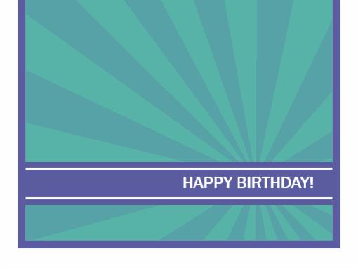 Milestone birthday card (blue rays)