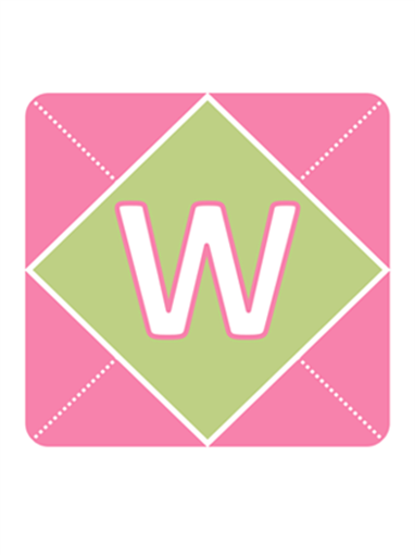 Welcome Baby Girl banner (pink, purple, green)