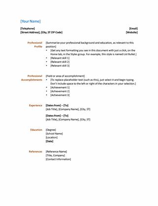 Resume (Functional design)