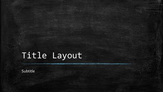 Blackboard educational presentation (widescreen)