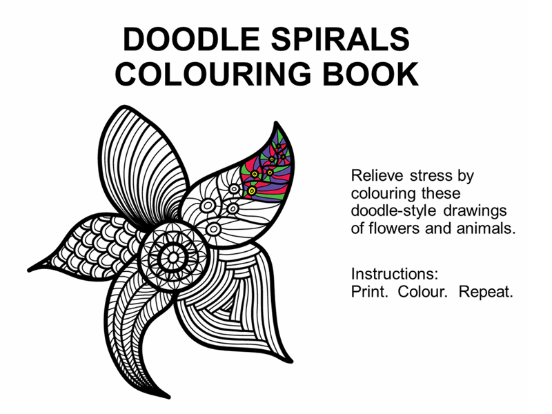 Doodle spirals colouring book