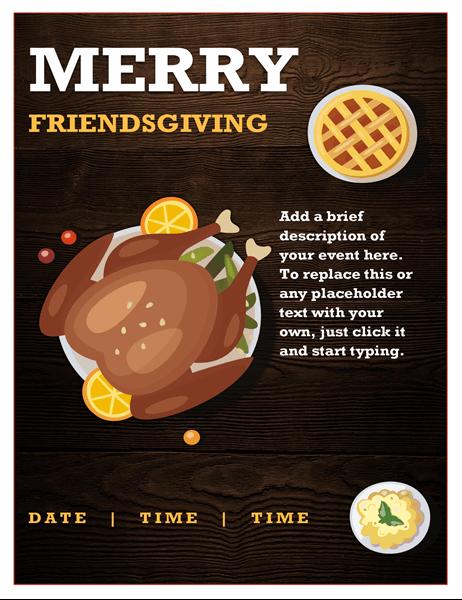 Friendsgiving flyer