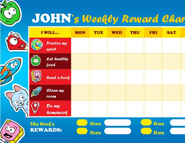 Kid's reward chart