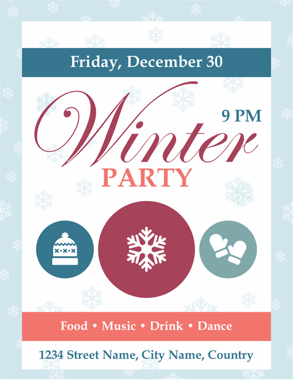 Winter party printables