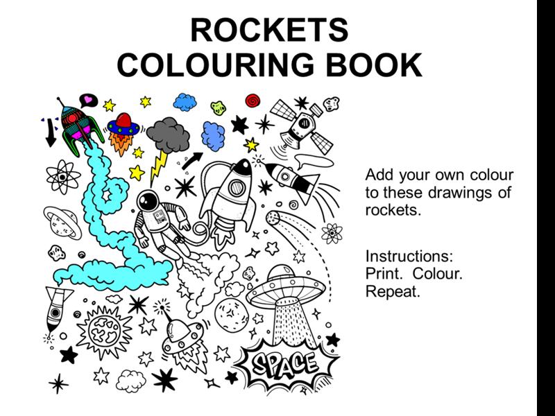 Rockets colouring book