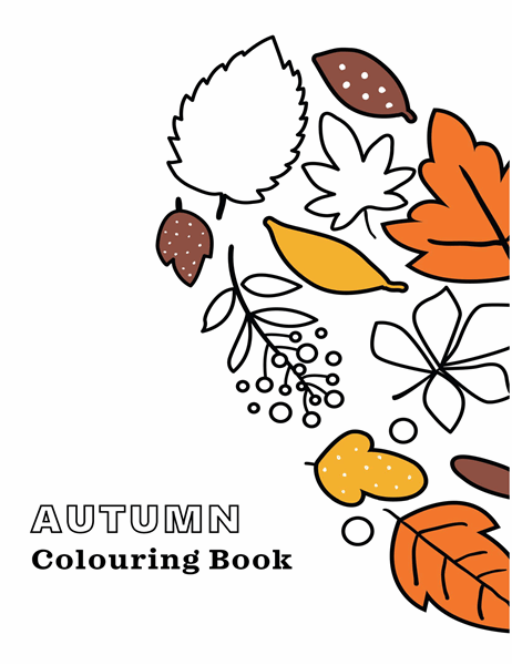 Autumn colouring book