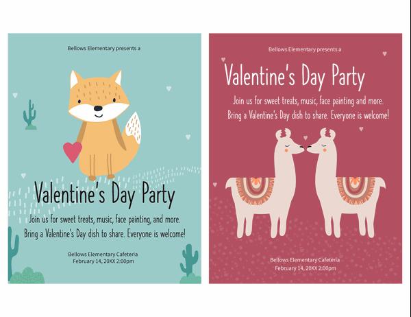 Children's Valentine's Day flyer