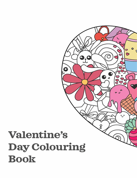Valentine's Day colouring book