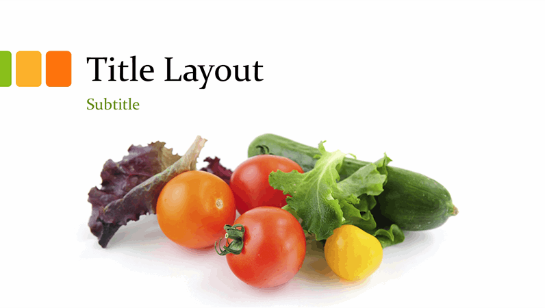 Fresh food presentation (widescreen)