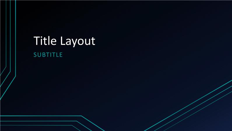 Triple circuit lines presentation (widescreen)