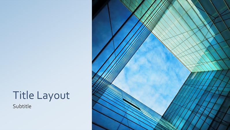 Business marketing glass cube presentation (widescreen)