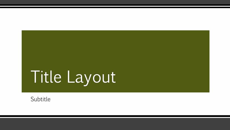 Striped black border presentation (wide-screen)