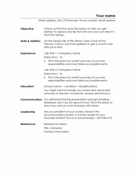 Functional CV (Minimalist design)