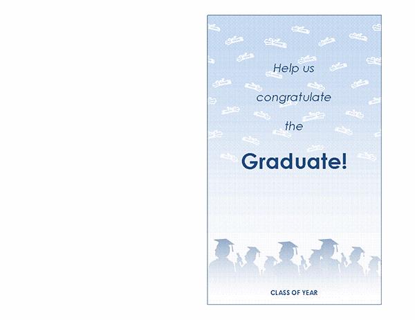 Graduation party invitation (Graduation Party design, half-fold)