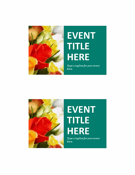 Event postcards